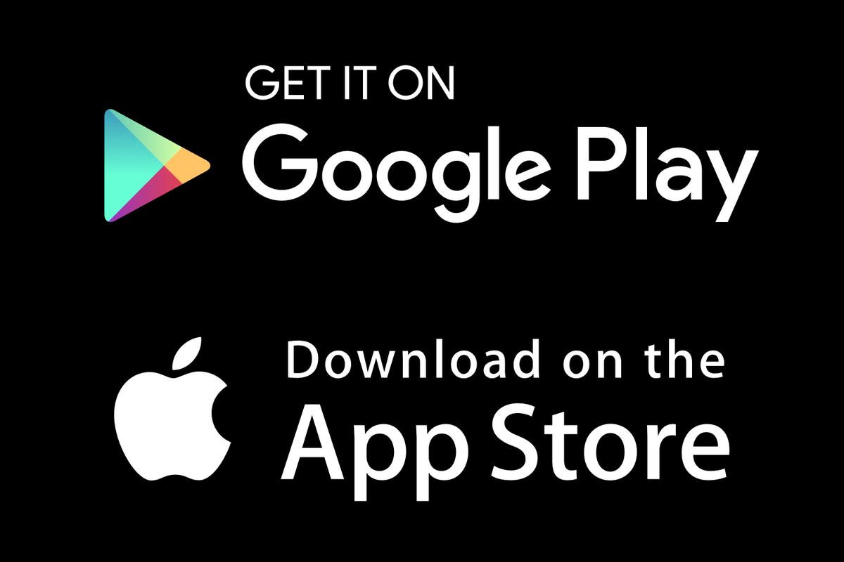 loghi di goggle play e app store