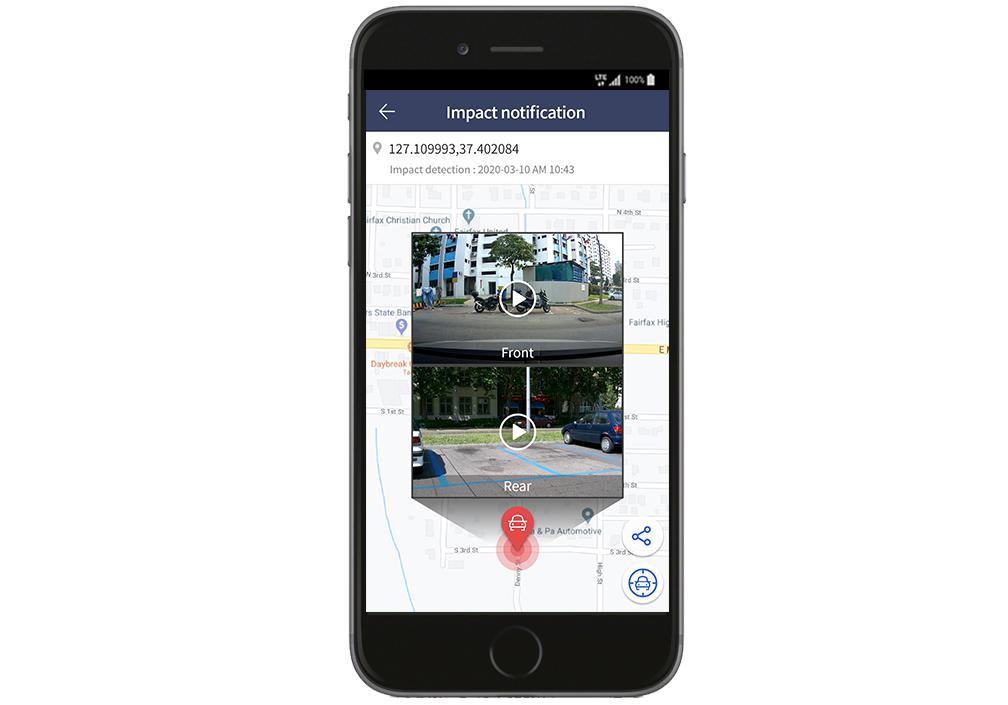 app thinkware connected LTE immagine parcheggio