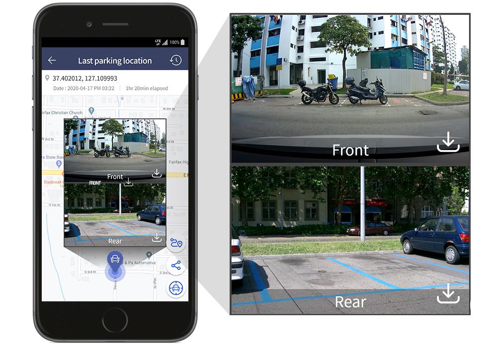app thinkware connected LTE modalità parcheggio