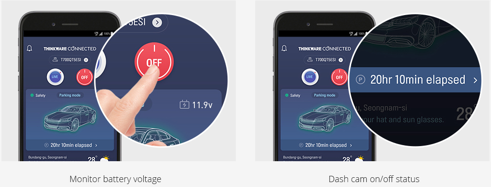 app thinkware connected LTE funzionalità