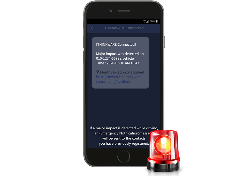 app thinkware connected lte funzione sos