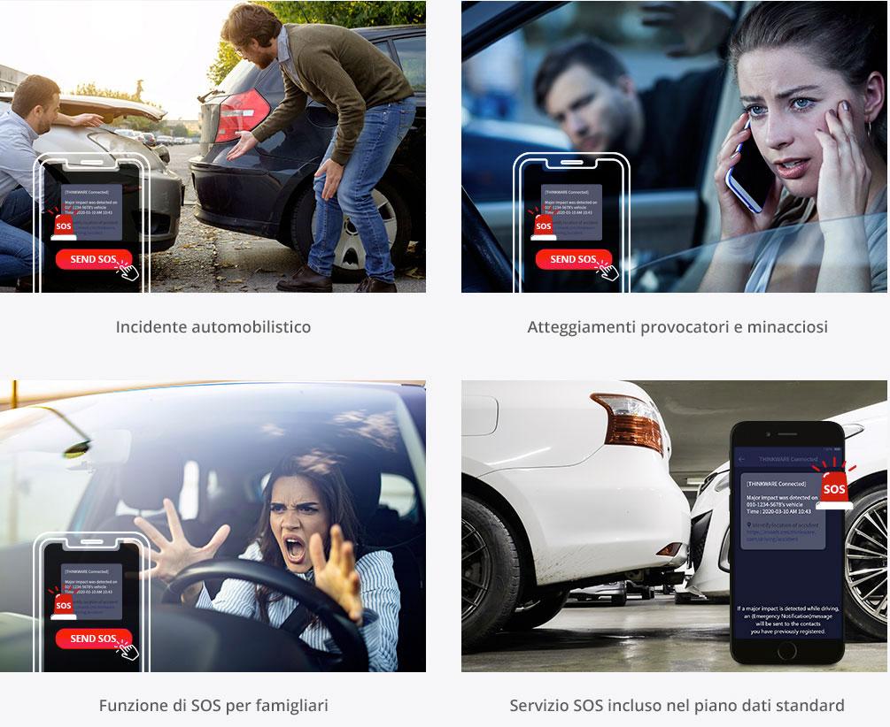 app thinkware connected lte funzioni assistenza sos